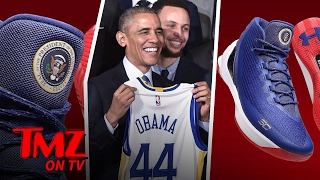 Steph Curry Paid Tribute To Barack Obama With Some Cool Sneakers | TMZ TV