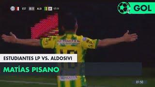 Matías Pisano (0-1) Estudiantes LP vs Aldosivi | Fecha 5 - Superliga Argentina 2018/2019