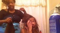 Weave messed up by beautician. Hot mess