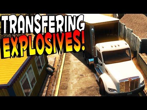 American Truck Simulator - HAZMAT EXPLOSIVES! - ATS / American Truck Simulator Gameplay & Highlights