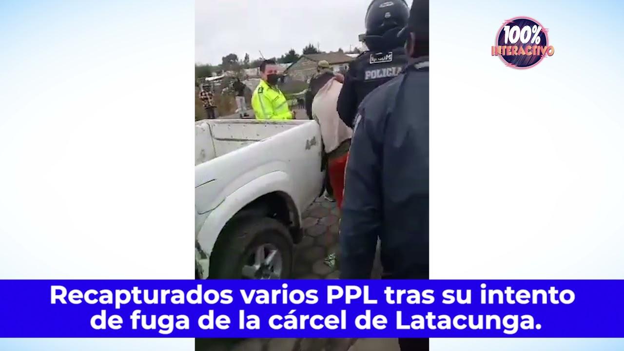 Recapturados varios PPL tras su intento de fuga de la cárcel de Latacunga.