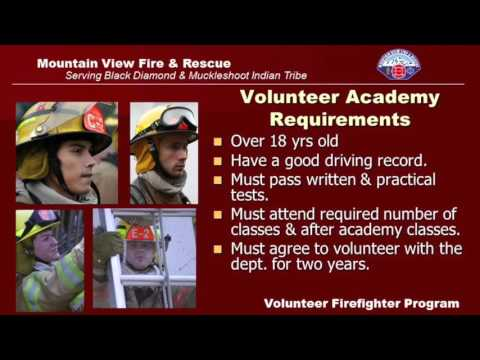Mountain View Fire & Rescue Volunteer Information