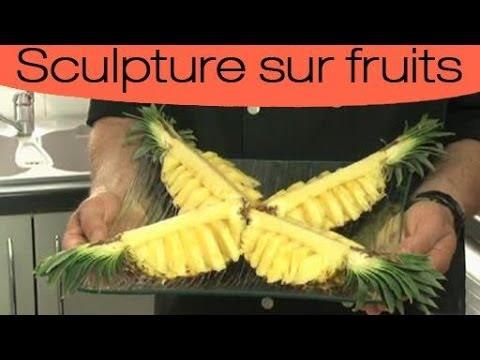 Décoration culinaire : sculpter un ananas en étoile