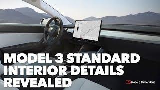 Model 3 Standard interior details revealed