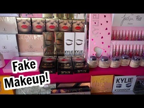 Fake High End Makeup in Los Angeles!? (Kylie Cosmetics, ABH,
