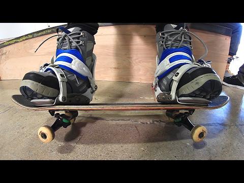 SKATEBOARDING WITH SNOWBOARD BINDINGS | STUPID SKATE EP 83