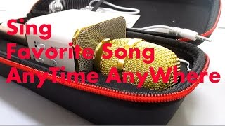 SING A SONG ANYTIME ANYWHERE BLUETOOTH KARAOKE RECORDING MICROPHONE Q7 BUILT IN SPEAKER