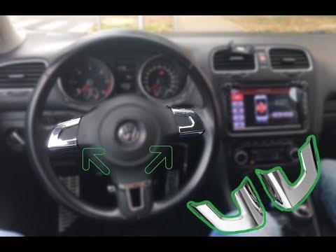 Chrome Steering Wheel Trim Cover Vw Mk6