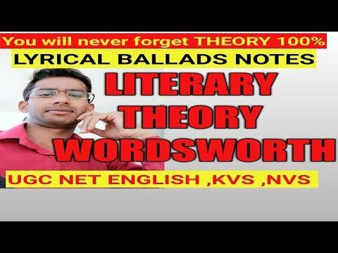 LITERARY THEORY |Wordsworth| LYRICAL BALLADS |ENGLISH LITERATURE |UGC net tgt pgt|
