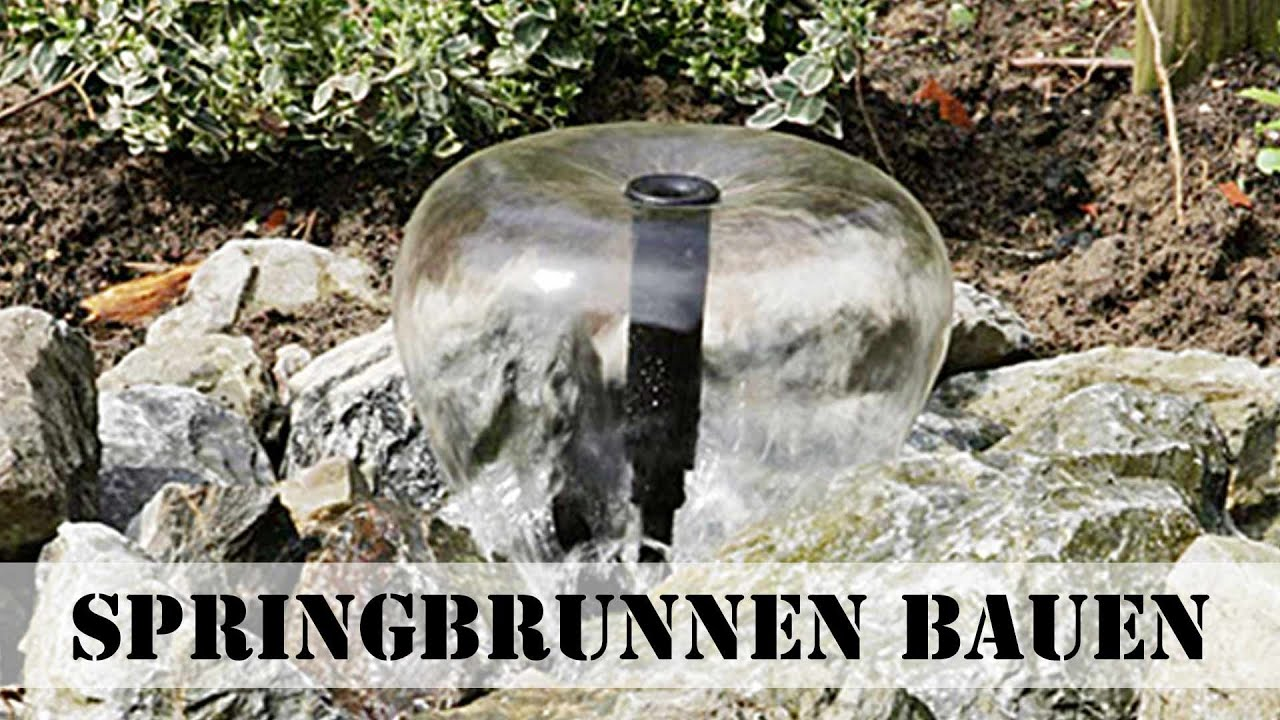 springbrunnen bauen youtube. Black Bedroom Furniture Sets. Home Design Ideas