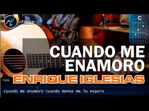 """Cómo tocar """"Cuando Me Enamoro"""" de Enrique Iglesias en Guitarra Acústica (HD) - Christianvib"""