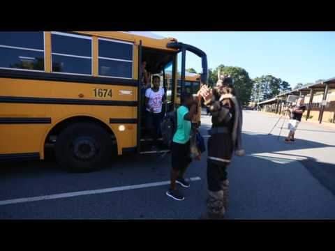 Kennesaw Mayor Derek Easterling Teaches First Day of New School Year at Awtrey Middle School