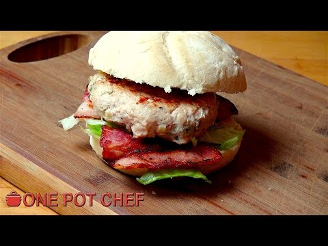 Easy Chicken Caesar Burgers | One Pot Chef