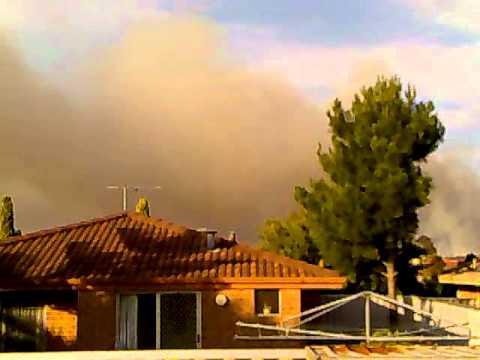 Clarkson Western Australia Bush fire 15.10.2011