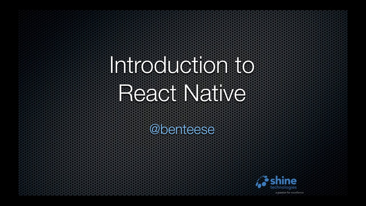 introduction to react native youtube