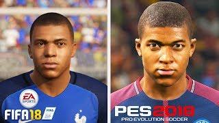 FIFA 18 VS PES 18 ЛИЦА ИГРОКОВ ПСЖ