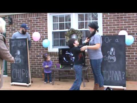 fixer upper baby gender reveal party chip joanna gaines youtube. Black Bedroom Furniture Sets. Home Design Ideas