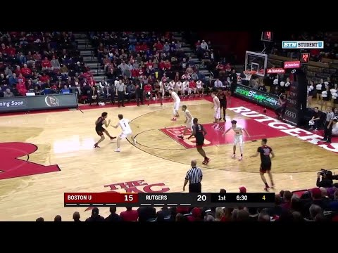 Highlights: Boston University at Rutgers | Big Ten Basketball