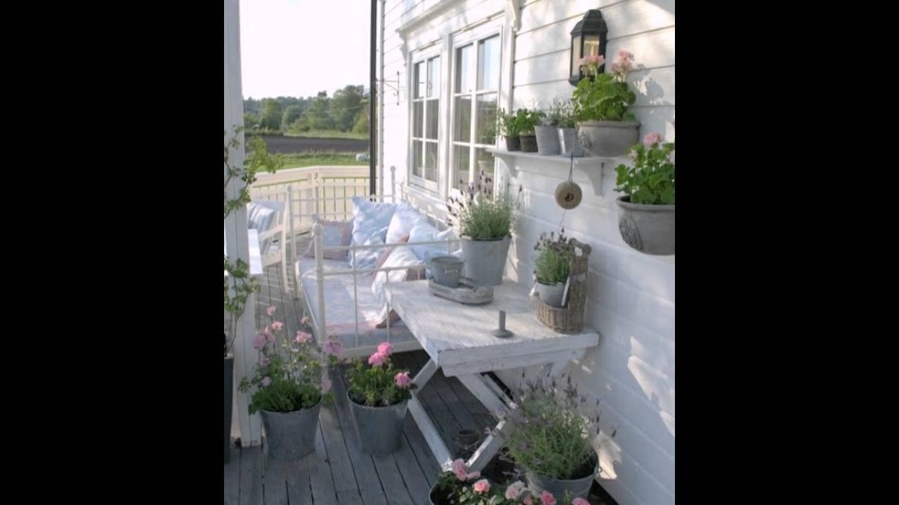 Balkon Gestalten Shabby Teppiche Balkon