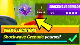 Shockwave Grenade LOCATIONS & Shockwave Greande yourself while in the Storm, Gain Health - Fortnite
