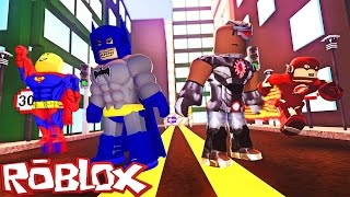 JUSTICE LEAGUE IN ROBLOX! (Roblox Superhelden)