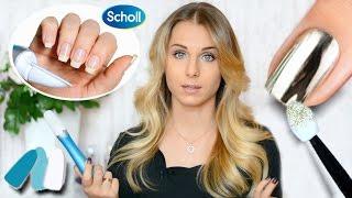 Маникюр пилкой Scholl - ПОШАГОВО, плюсы и минусы ♥ ЗЕРКАЛЬНЫЕ НОГТИ ♥ Mirror powder nails Video