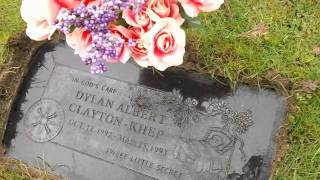 Visiting Dylans Grave side