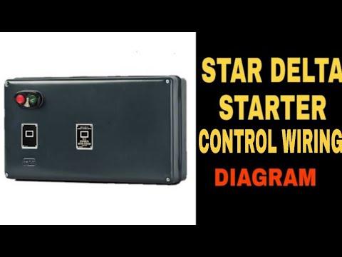 Star Delta Motor Starter Control Wiring Diagram - YouTube