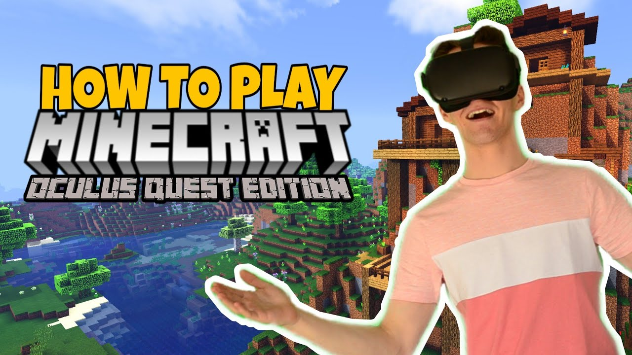 How to Play MINECRAFT Oculus Quest - VR Oculus Link Cable Setup, Bedrock  Gameplay + Graphics 11