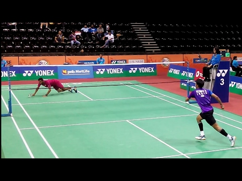 Badminton Defence Technique KILLED ! India Open 2017 BWF Superseries Badminton Highlights Video
