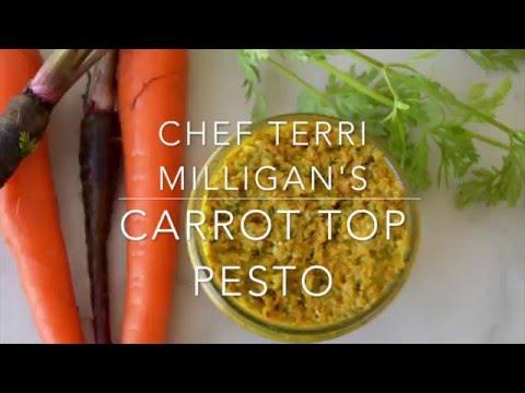 Edible Door Carrot Top Pesto