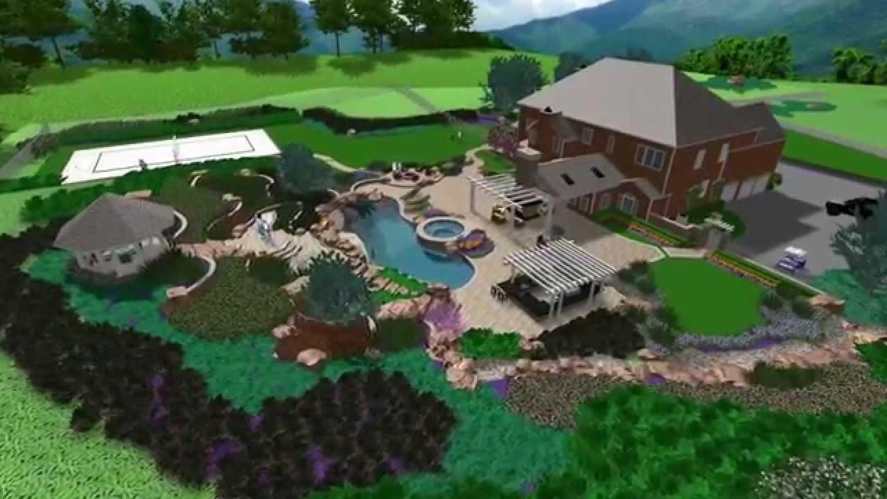 Landscape Design - Warrenton Virginia Estate - YouTube