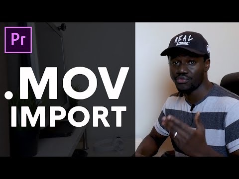 how to import .MOV files in adobe premiere pro Win/Mac