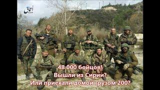 48 000 бойцов  Вышли из Сирии ? Или приехали домой грузом 200