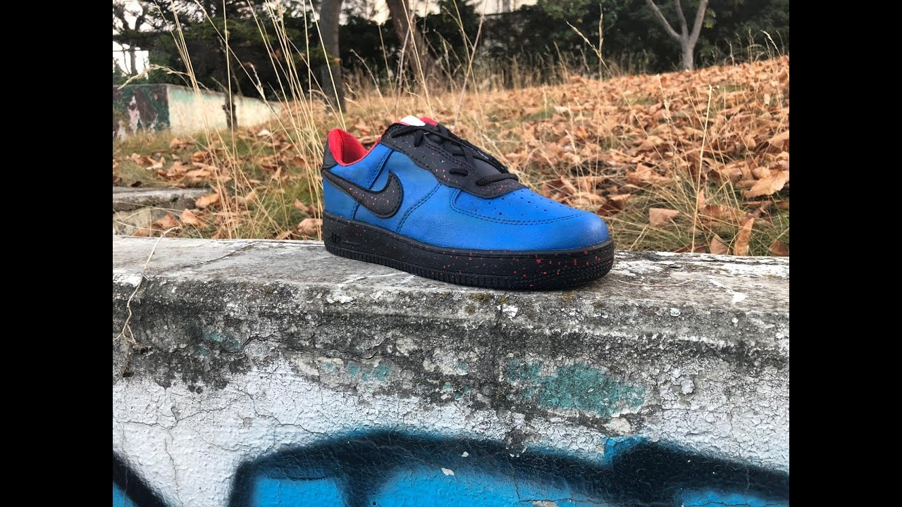 Custom Nike Air Force 1 Spiderman -trash to hype