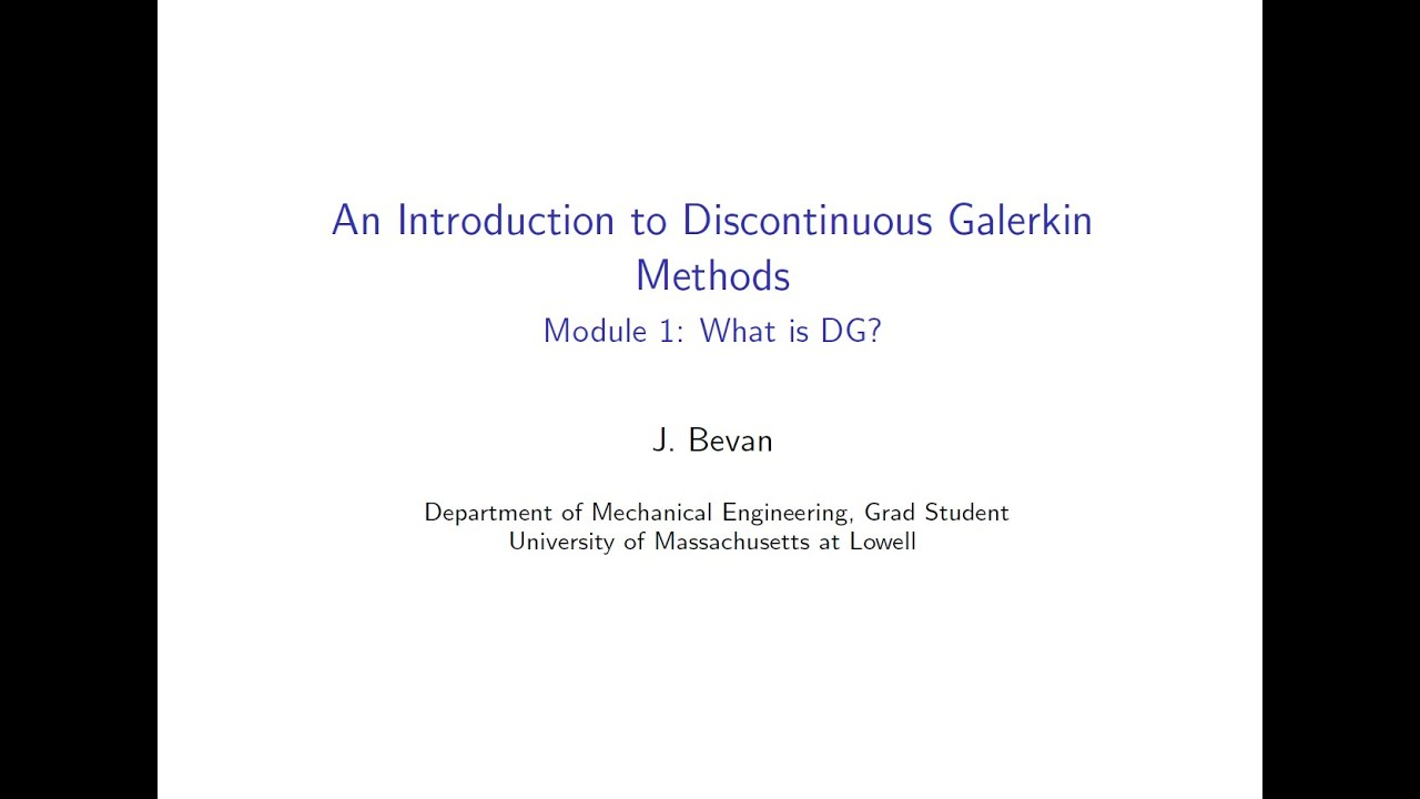 Introduction to Discontinuous Galerkin Methods