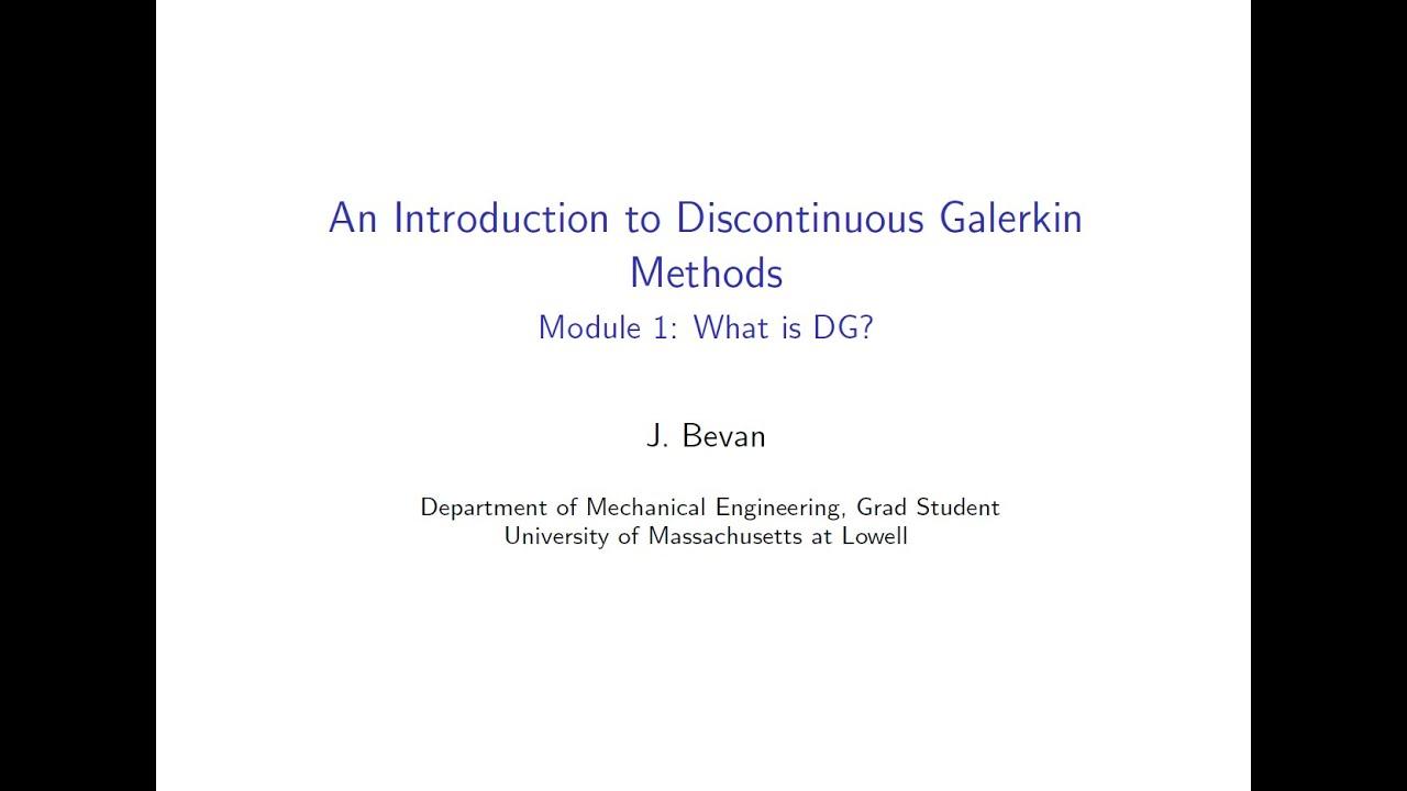 Modified galerkin method finite element analysis assignment.