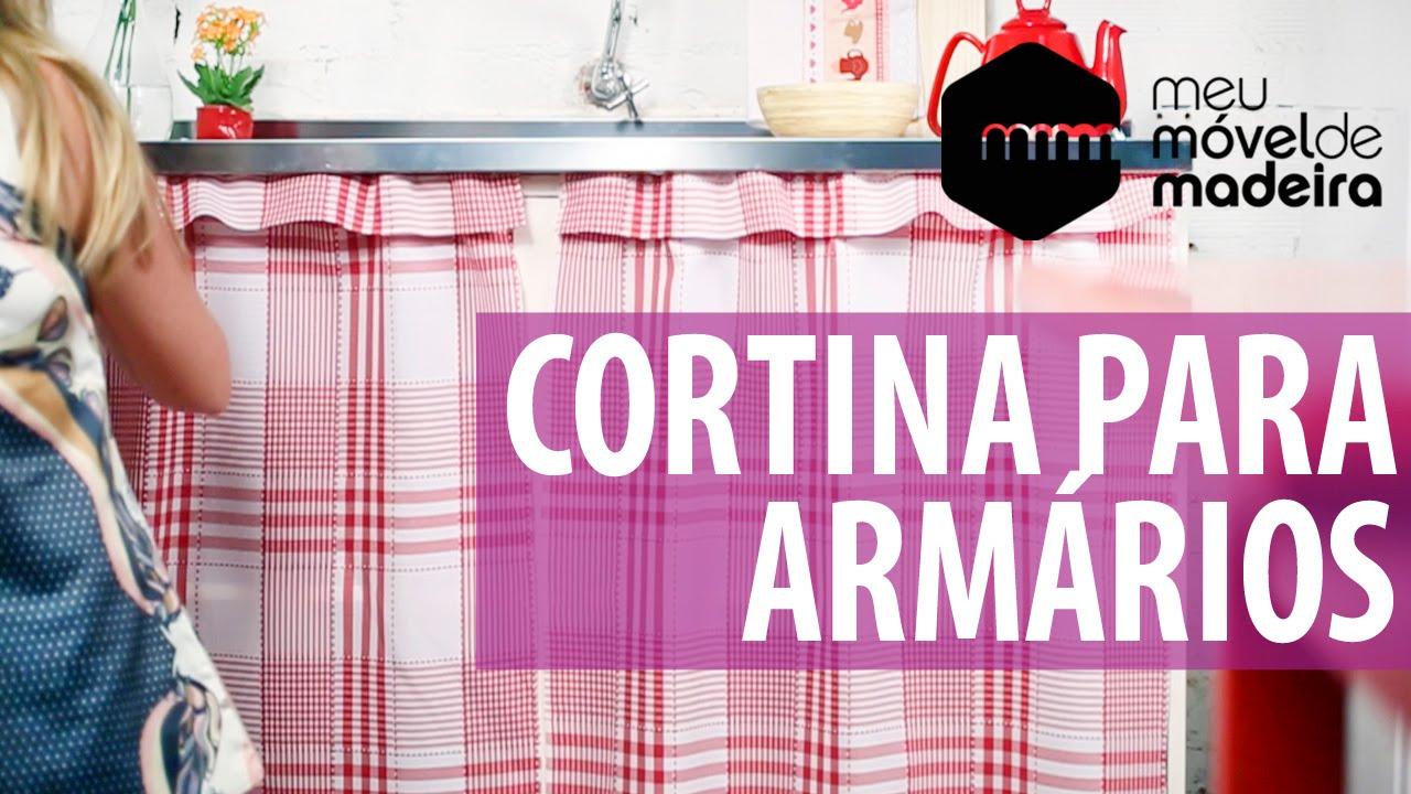 Diy como fazer uma cortina para arm rio youtube for Cortinas para puertas de armarios