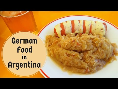 Eating German Cuisine in Argentina