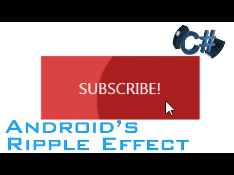 Android's Ripple Effect in WPF -- C#