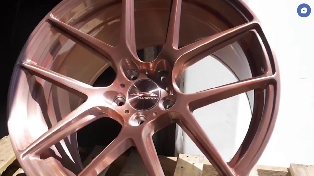 audiocityusa ACE Custom Finishes Brushed Rose Gold Tint AFF02 wheels