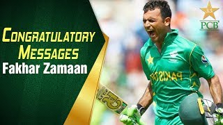 Congratulatory messages for Fakhar Zamaan from Head Coach, Mickey Arthur and players   PCB
