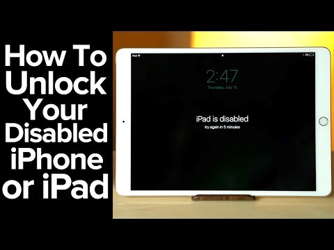 How To Unlock A Disabled IPhone Or IPad!