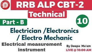 Class 10 ||#RRB ALP CBT-2 Technical | Electrician/Electronics | By ...