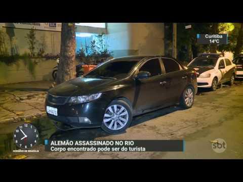 Polícia do Rio descobre assassinato de alemão durante blitz de rotina - SBT Brasil (23/05/17)