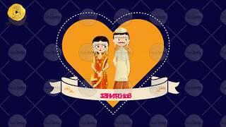 HW03M - Pop Heart Indian Save the Date Maharashtrian Marathi Wedding - Traditional Theme Invitation