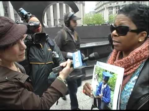 Carol Gray, mother of #KimaniGray, interviewed by WPIX at #RamarleyGraham rally