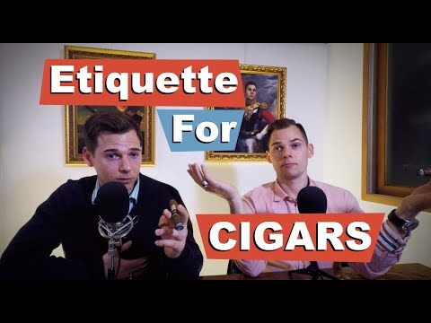 Cigar Etiquette: What to Do, What Not to Do