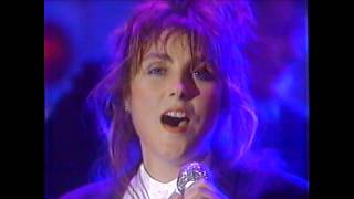 """Grammy nominated american pop vocalist, laura branigan performs with her band powerful version of the ballad """"power love"""" and then """"touch"""" at american..."""