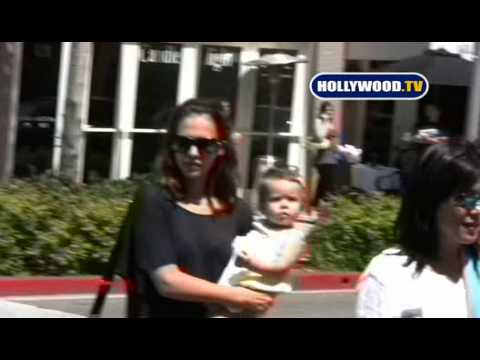 Jessica Alba and Baby Out In The Sun Beverly Hills.